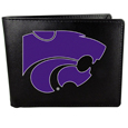 Kansas St. Wildcats Leather Bi-fold Wallet, Large Logo