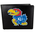 Kansas Jayhawks Leather Bi-fold Wallet, Large Logo