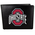 Ohio St. Buckeyes Leather Bi-fold Wallet, Large Logo