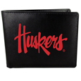 Nebraska Cornhuskers Leather Bi-fold Wallet, Large Logo