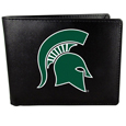 Michigan St. Spartans Leather Bi-fold Wallet, Large Logo
