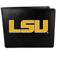 LSU Tigers Leather Bi-fold Wallet, Large Logo