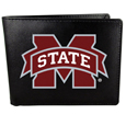 Mississippi St. Bulldogs Leather Bi-fold Wallet, Large Logo