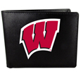 Wisconsin Badgers Leather Bi-fold Wallet, Large Logo