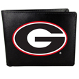 Georgia Bulldogs Leather Bi-fold Wallet, Large Logo