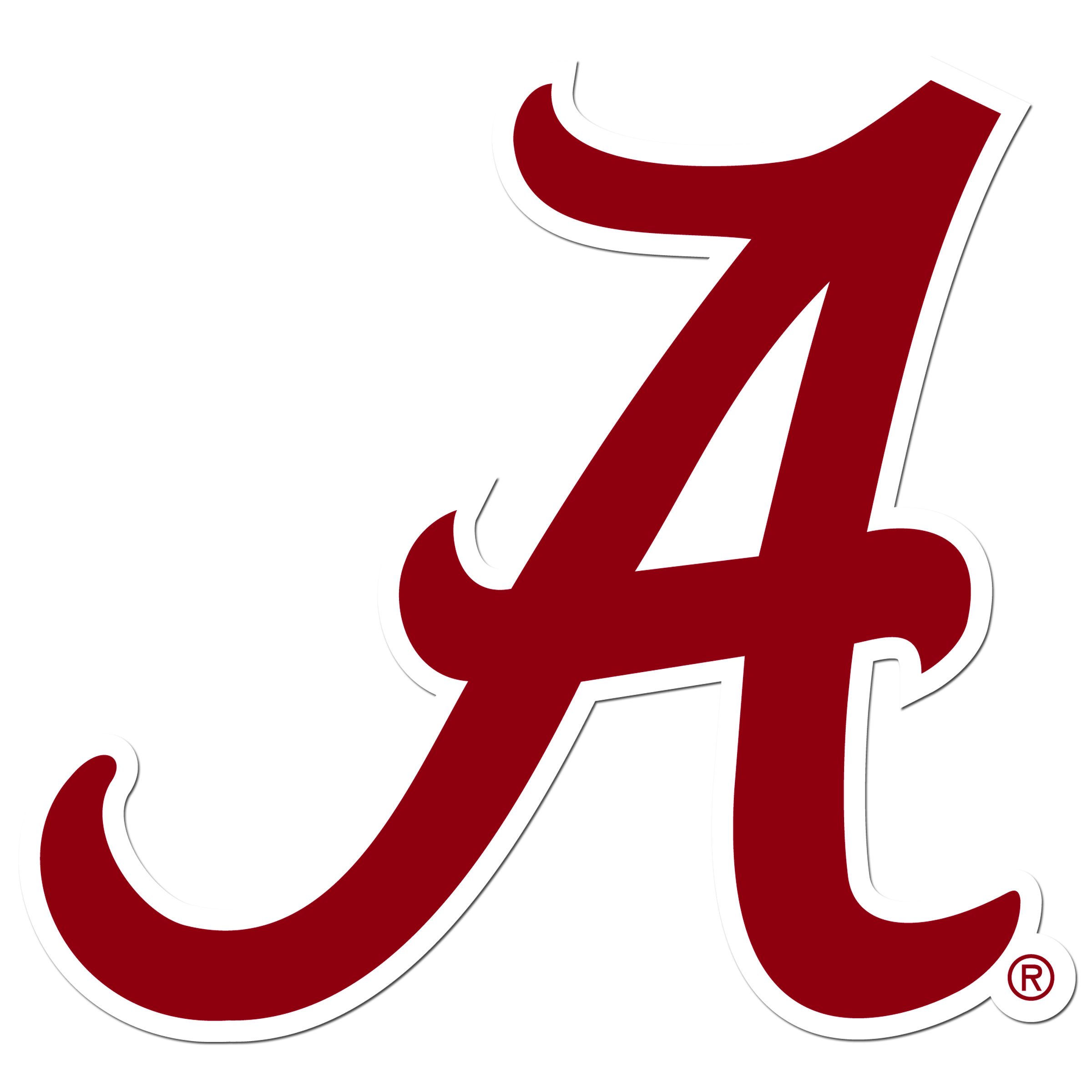 Alabama Crimson Tide 8 inch Auto Decal - This bold, 8 inch Alabama Crimson Tide is a great way to show off your team pride! The low tack vinyl decal is easily positioned and adjusted to make sure you get that logo in just the right spot on your vehicle. Designed to be used on the outside of the window.