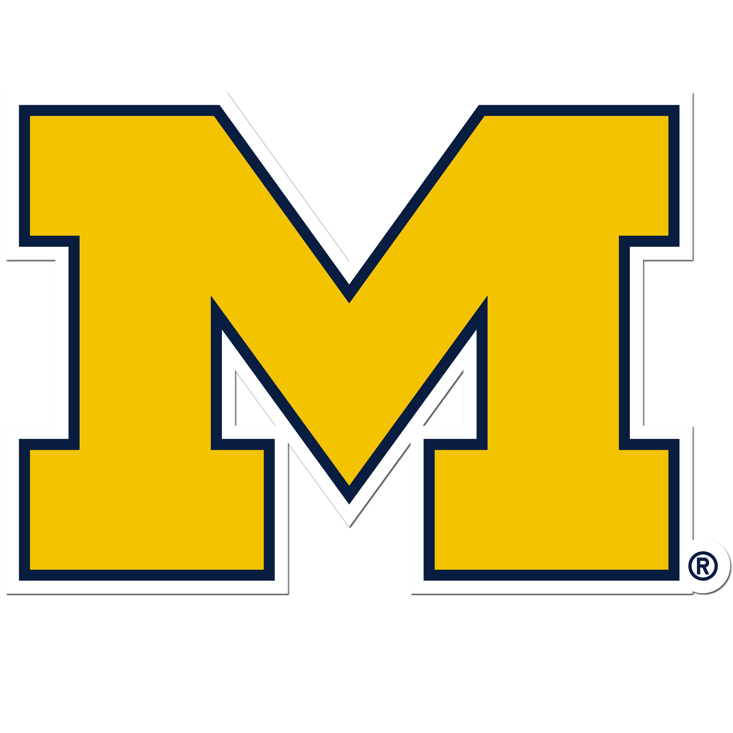 Michigan Wolverines 8 inch Auto Decal - This bold, 8 inch Michigan Wolverines is a great way to show off your team pride! The low tack vinyl decal is easily positioned and adjusted to make sure you get that logo in just the right spot on your vehicle. Designed to be used on the outside of the window.