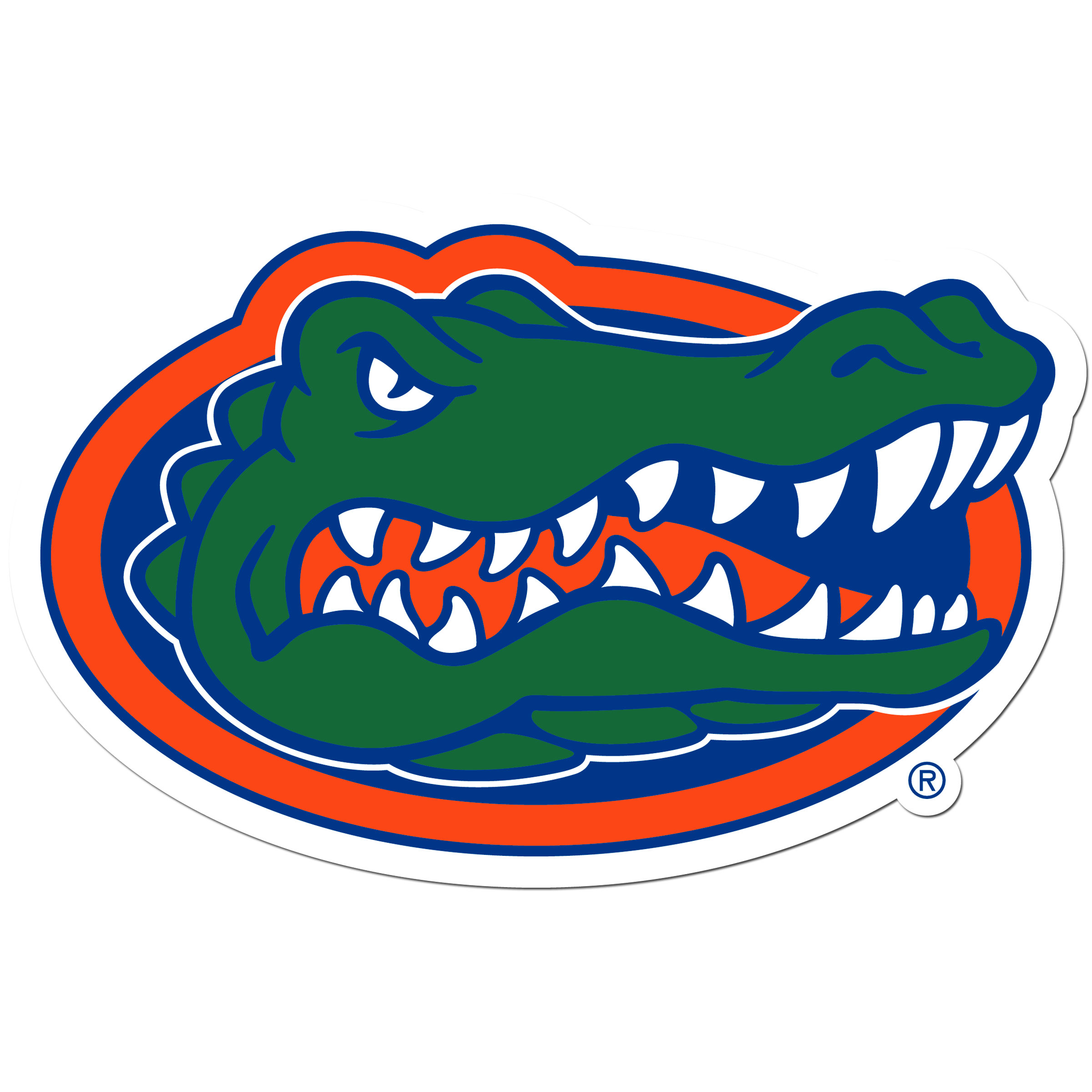 Florida Gators 8 inch Auto Decal - This bold, 8 inch Florida Gators is a great way to show off your team pride! The low tack vinyl decal is easily positioned and adjusted to make sure you get that logo in just the right spot on your vehicle. Designed to be used on the outside of the window.