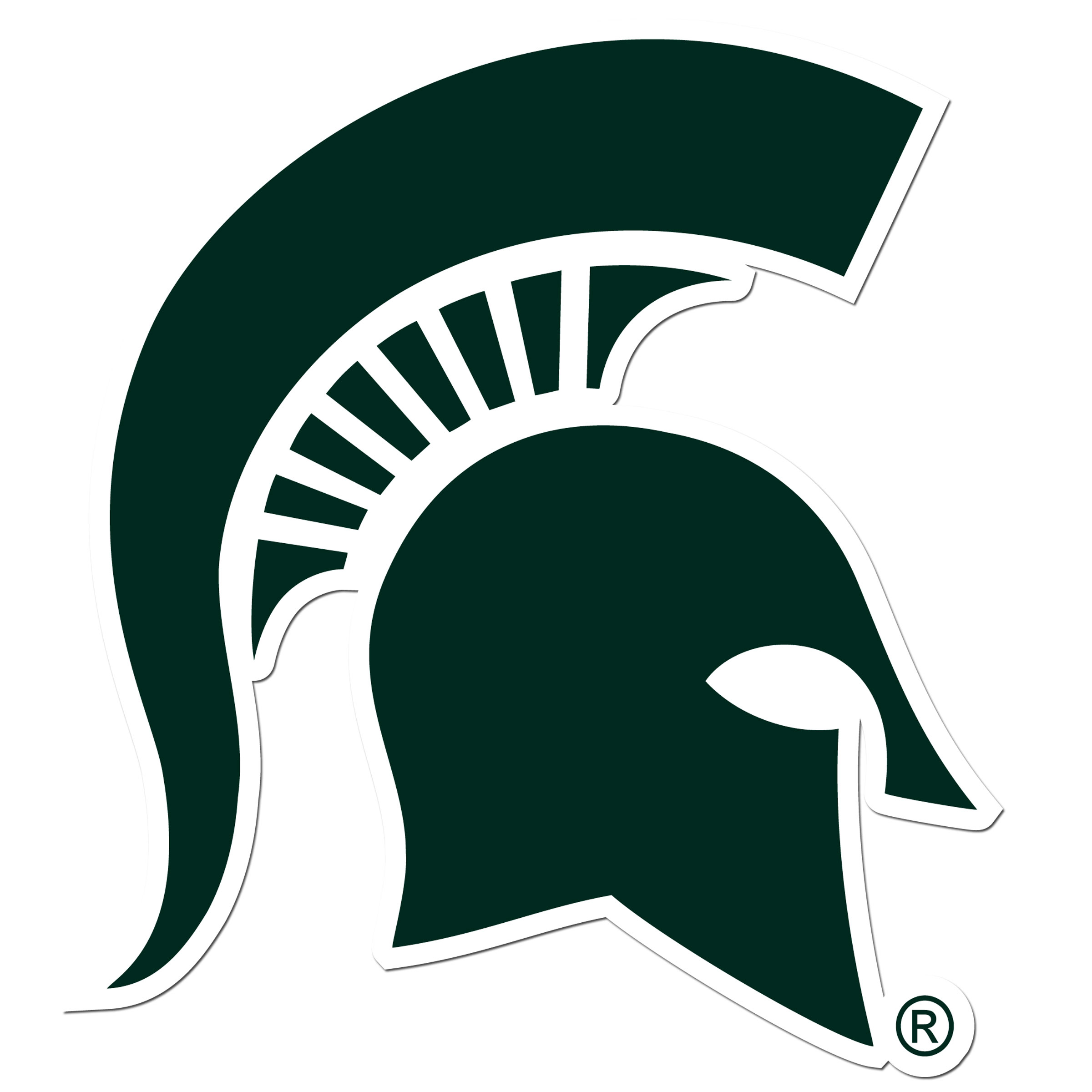 Michigan St. Spartans 8 inch Auto Decal - This bold, 8 inch Michigan St. Spartans is a great way to show off your team pride! The low tack vinyl decal is easily positioned and adjusted to make sure you get that logo in just the right spot on your vehicle. Designed to be used on the outside of the window.