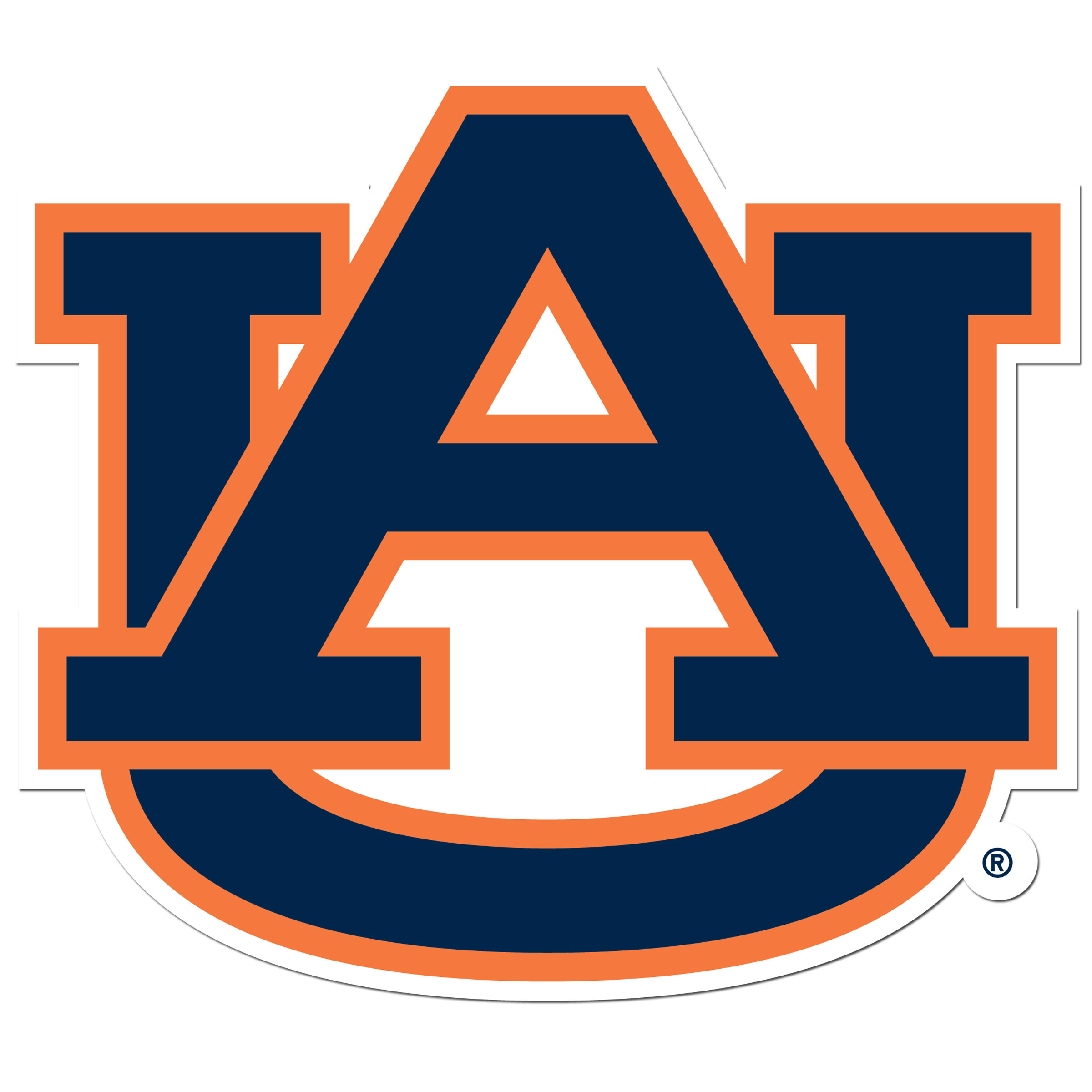 Auburn Tigers 8 inch Auto Decal - This bold, 8 inch Auburn Tigers is a great way to show off your team pride! The low tack vinyl decal is easily positioned and adjusted to make sure you get that logo in just the right spot on your vehicle. Designed to be used on the outside of the window.