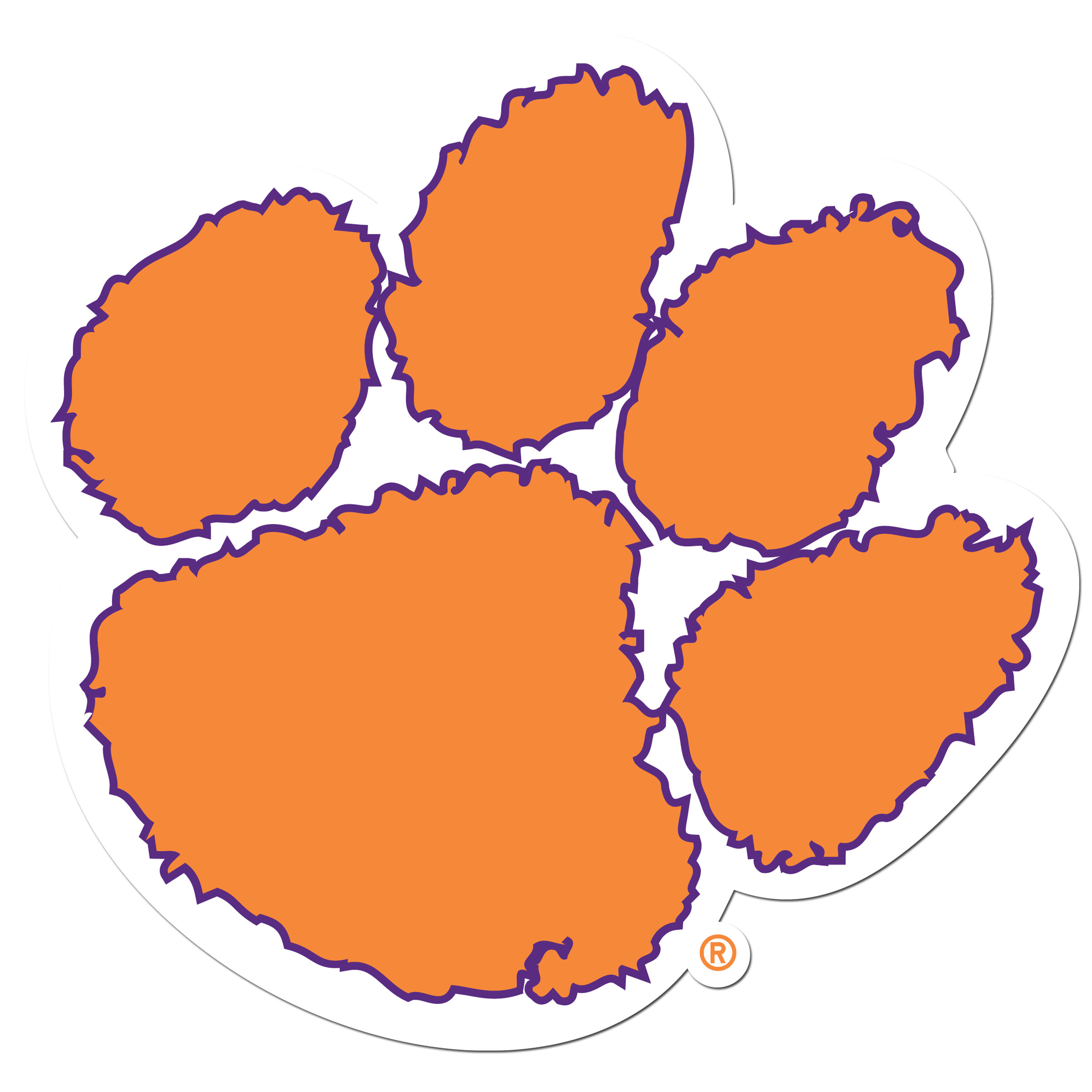 Clemson Tigers 8 inch Auto Decal - This bold, 8 inch Clemson Tigers is a great way to show off your team pride! The low tack vinyl decal is easily positioned and adjusted to make sure you get that logo in just the right spot on your vehicle. Designed to be used on the outside of the window.