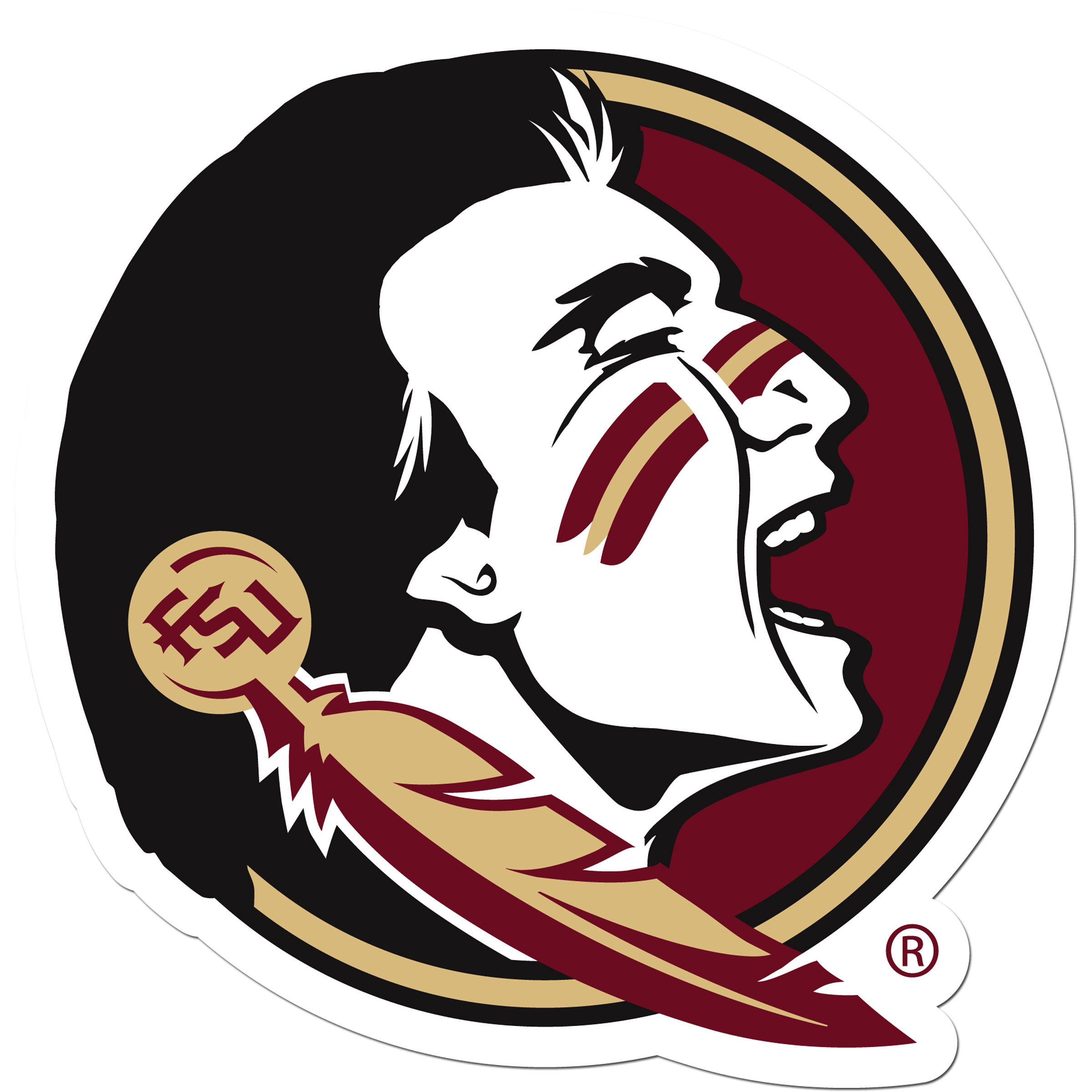 Florida St. Seminoles 8 inch Auto Decal - This bold, 8 inch Florida St. Seminoles is a great way to show off your team pride! The low tack vinyl decal is easily positioned and adjusted to make sure you get that logo in just the right spot on your vehicle. Designed to be used on the outside of the window.