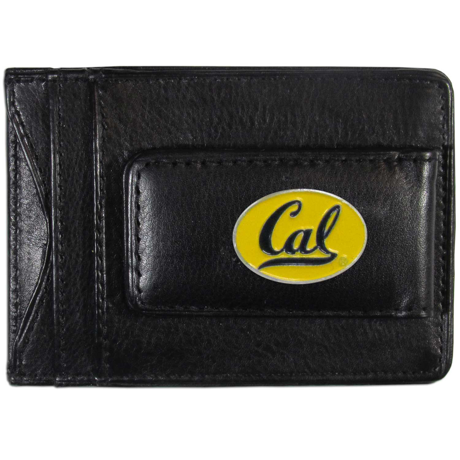 Cal Berkeley Bears Leather Cash & Cardholder - Our Cal Berkeley Bears genuine leather cash & cardholder is a great alternative to the traditional bulky wallet. This compact wallet has credit card slots, windowed ID slot and a magnetic money clip that will not damage your credit cards. The wallet features a metal team emblem.