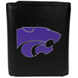 Kansas St. Wildcats Leather Tri-fold Wallet, Large Logo
