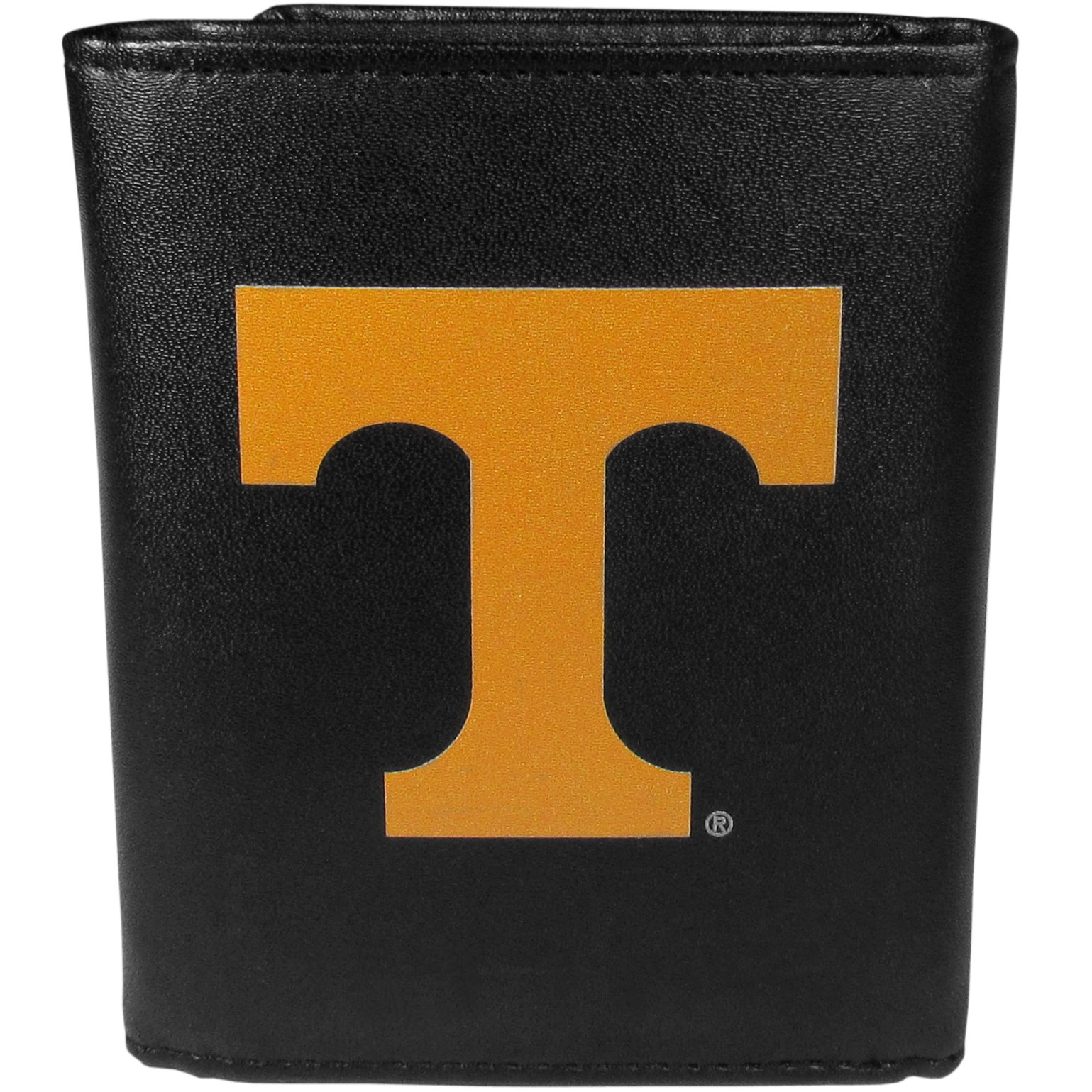 Tennessee Volunteers Leather Tri-fold Wallet, Large Logo - Our classic fine leather tri-fold wallet is meticulously crafted with genuine leather that will age beautifully so you will have a quality wallet for years to come. This is fan apparel at its finest. The wallet is packed with organizational  features; lots of credit card slots, large billfold pocket, and a window ID slot. The front of the wallet features an extra large Tennessee Volunteers printed logo.