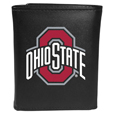 Ohio St. Buckeyes Leather Tri-fold Wallet, Large Logo