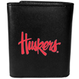 Nebraska Cornhuskers Leather Tri-fold Wallet, Large Logo