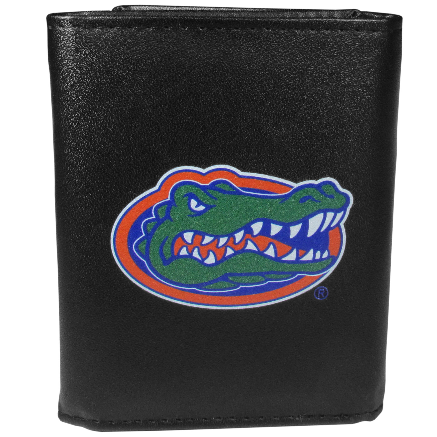 Florida Gators Leather Tri-fold Wallet, Large Logo - Our classic fine leather tri-fold wallet is meticulously crafted with genuine leather that will age beautifully so you will have a quality wallet for years to come. This is fan apparel at its finest. The wallet is packed with organizational  features; lots of credit card slots, large billfold pocket, and a window ID slot. The front of the wallet features an extra large Florida Gators printed logo.