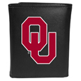 Oklahoma Sooners Leather Tri-fold Wallet, Large Logo