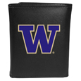 Washington Huskies Leather Tri-fold Wallet, Large Logo