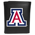 Arizona Wildcats Leather Tri-fold Wallet, Large Logo