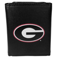 Georgia Bulldogs Leather Tri-fold Wallet, Large Logo