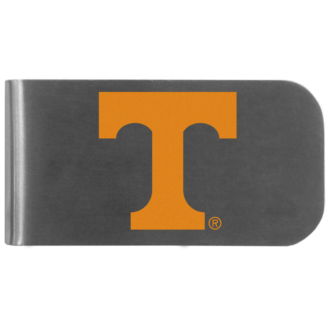 Tennessee Volunteers Logo Bottle Opener Money Clip - This unique money clip features a classic, brushed-metal finish with a handy bottle opener feature on the back. The clip has the Tennessee Volunteers logo expertly printed on the front of the clip.