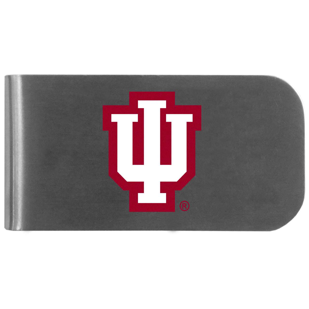 Indiana Hoosiers Logo Bottle Opener Money Clip - This unique money clip features a classic, brushed-metal finish with a handy bottle opener feature on the back. The clip has the Indiana Hoosiers logo expertly printed on the front of the clip.