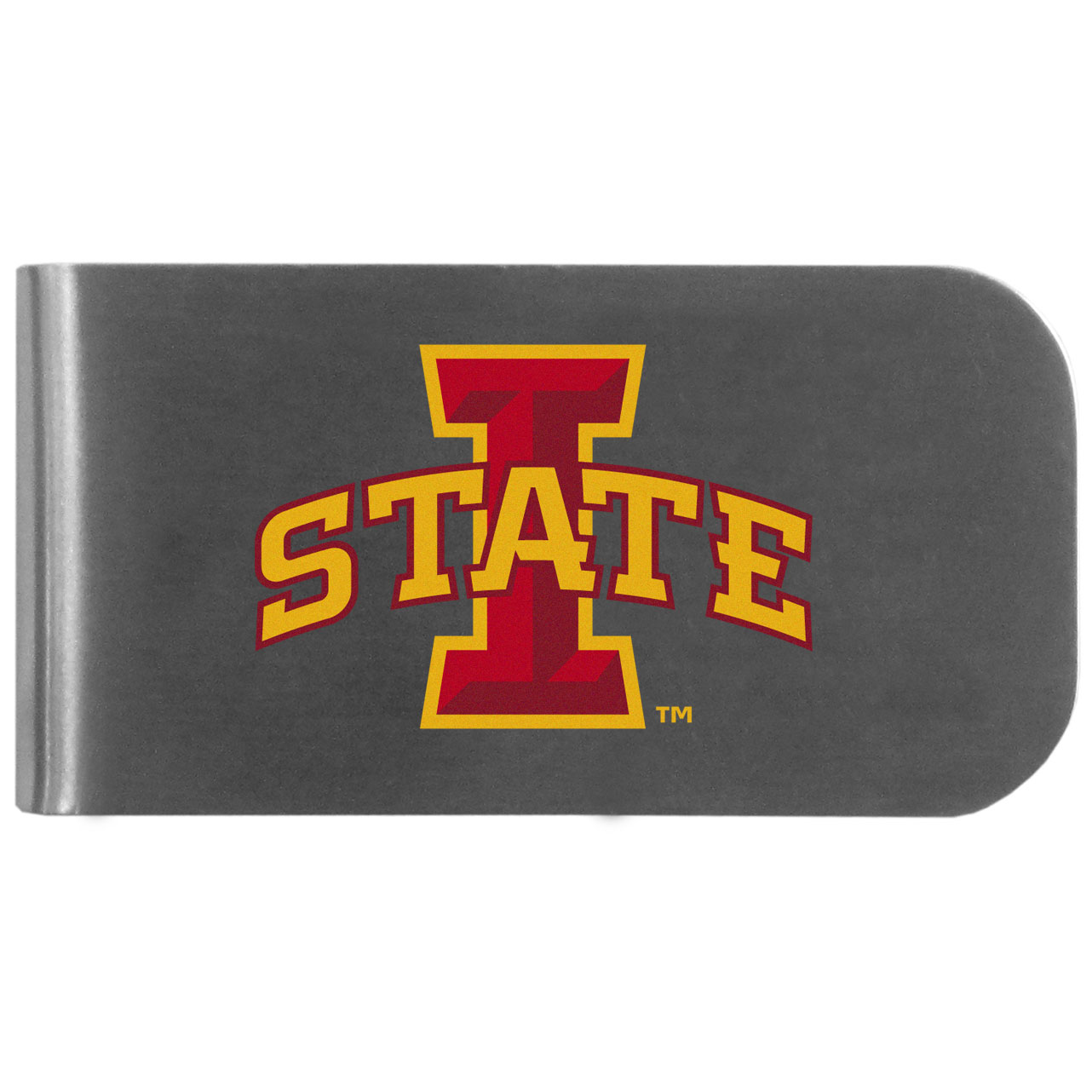 Iowa St. Cyclones Logo Bottle Opener Money Clip - This unique money clip features a classic, brushed-metal finish with a handy bottle opener feature on the back. The clip has the Iowa St. Cyclones logo expertly printed on the front of the clip.