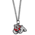 Fresno St. Bulldogs Chain Necklace with Small Charm - Make a statement with our collegiate chain necklaces. The 20 inch chain features a fully cast, high polish Fresno St. Bulldogs pendant with vivid enameled details. Perfect accessory for game day and nice enough to wear everyday! Check out all our other great NFL, NCAA, MLB, NHL product line up. Thank you for shopping Crazed Out Sports!!