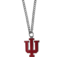 Indiana Hoosiers Chain Necklace with Small Charm - Make a statement with our collegiate Indiana Hoosiers chain necklace with small charm. The 20 inch chain features a fully cast, high polish Indiana Hoosiers pendant with vivid enameled details. Perfect accessory for game day and nice enough to wear everyday! Thank you for shopping with CrazedOutSports.com