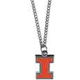 Illinois Fighting Illini Chain Necklace with Small Charm - Make a statement with our collegiate Illinois Fighting Illini chain necklace with small charm. The 20 inch chain features a fully cast, high polish Illinois Fighting Illini pendant with vivid enameled details. Perfect accessory for game day and nice enough to wear everyday! Thank you for shopping with CrazedOutSports.com