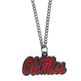Mississippi Rebels Chain Necklace with Small Charm - Make a statement with our collegiate chain necklaces. The 20 inch chain features a fully cast, high polish Mississippi Rebels pendant with vivid enameled details. Perfect accessory for game day and nice enough to wear everyday! Thank you for shopping with CrazedOutSports.com