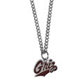 Montana Grizzlies Chain Necklace with Small Charm - Make a statement with our collegiate chain necklaces. The 20 inch chain features a fully cast, high polish Montana Grizzlies pendant with vivid enameled details. Perfect accessory for game day and nice enough to wear everyday! Thank you for shopping with CrazedOutSports.com