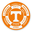 Tennessee Volunteers Schedule Golf Ball Marker Coin