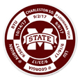 Mississippi St. Bulldogs Schedule Golf Ball Marker Coin