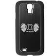 Oregon Ducks Etched Samsung Galaxy S4 Case - This ultra cool hard shell snap on case provides great protection for the phone while the soft rubber finish adds to your grip to help prevent dropping the phone. This stylish case is finished off with a brushed metal team plate with laser etched Oregon Ducks team logo. Thank you for shopping with CrazedOutSports.com