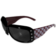 Texas A and M Aggies Designer Women's Sunglasses - Our designer women's sunglasses have a repeating Texas A & M Aggies logo design on the team colored arms and rhinestone accents. 100% UVA/UVB protection. Thank you for shopping with CrazedOutSports.com