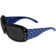 Kentucky Wildcats Designer Women's Sunglasses - These Kentucky Wildcats designer women's sunglasses have a repeating Kentucky Wildcats logo design on the team colored arms and rhinestone accents. 100% UVA/UVB protection. Thank you for shopping with CrazedOutSports.com