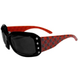 S. Carolina Gamecocks Designer Women's Sunglasses - Our designer women's sunglasses have a repeating S. Carolina Gamecocks logo design on the team colored arms and rhinestone accents. 100% UVA/UVB protection. Thank you for shopping with CrazedOutSports.com