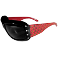 Louisville Cardinals Designer Women's Sunglasses - These Louisville Cardinals designer women's sunglasses have a repeating Louisville Cardinals logo design on the team colored arms and rhinestone accents. 100% UVA/UVB protection. Thank you for shopping with CrazedOutSports.com