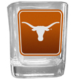 Texas Longhorns Square Glass Shot Glass