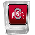 Ohio St. Buckeyes Square Glass Shot Glass