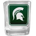 Michigan St. Spartans Square Glass Shot Glass
