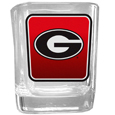 Georgia Bulldogs Square Glass Shot Glass