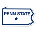 Penn St. Nittany Lions Home State 11 Inch Magnet