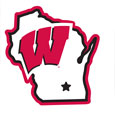 Wisconsin Badgers Home State 11 Inch Magnet