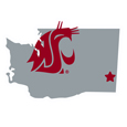 Washington St. Cougars Home State 11 Inch Magnet