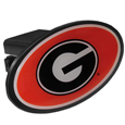 Georgia Bulldogs Plastic Hitch Cover Class III - This Georgia Bulldogs affordable hitch cover features a large Georgia Bulldogs dome. The unique design requires no additional hardware for installation. It snaps easily into place on your Class III hitch receiver.