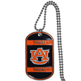Auburn Tigers Tag Necklace - Expertly crafted Auburn Tigers tag necklaces featuring fine detailing and a hand enameled finish with chrome accents. 26 inch ball chain. Thank you for shopping with CrazedOutSports.com